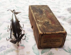 Antique fishing lures date to the early 20th century and before.
