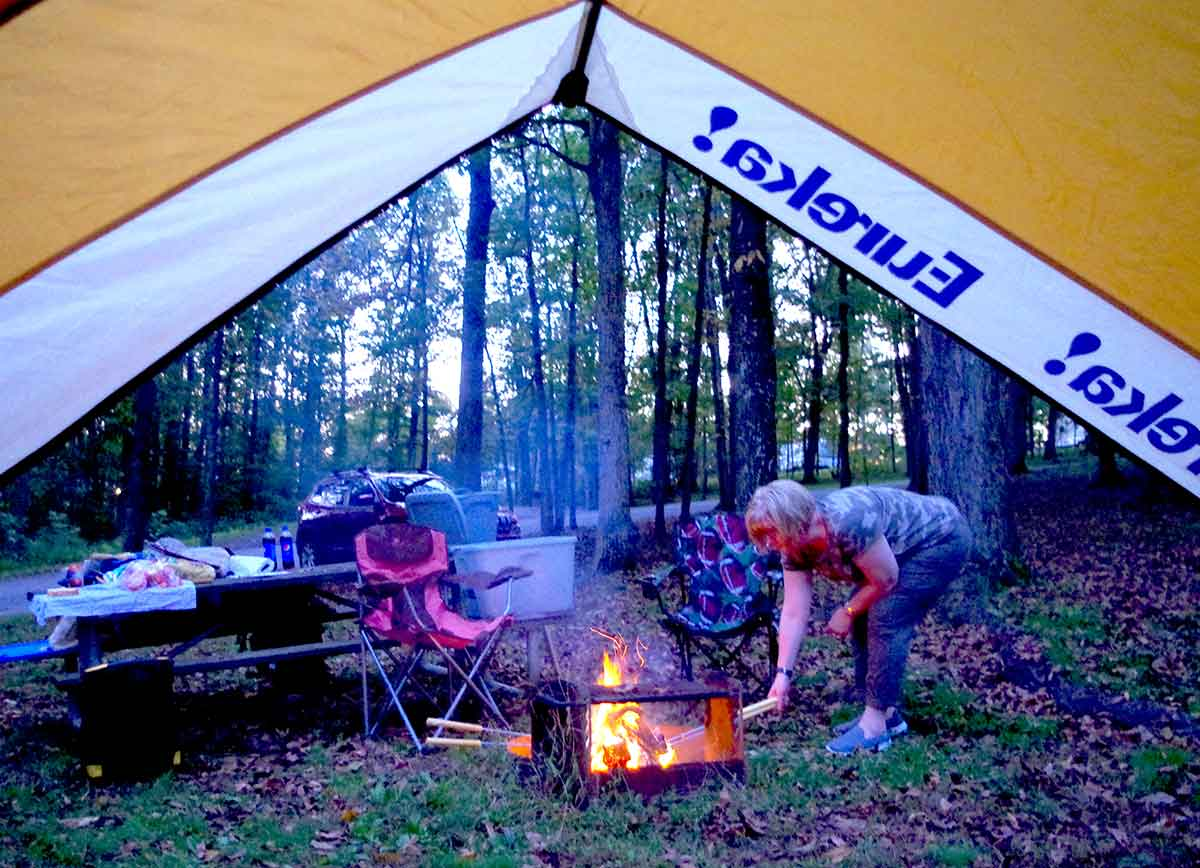 Camping is part of an adventurous life.