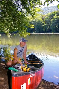 Anglers and boaters can enjoy canoe camping.