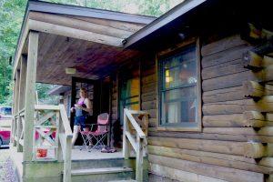 Cabin camping is fun.
