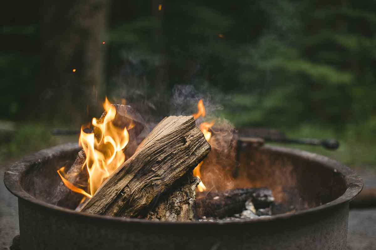Campfires provide warmth and comfort.