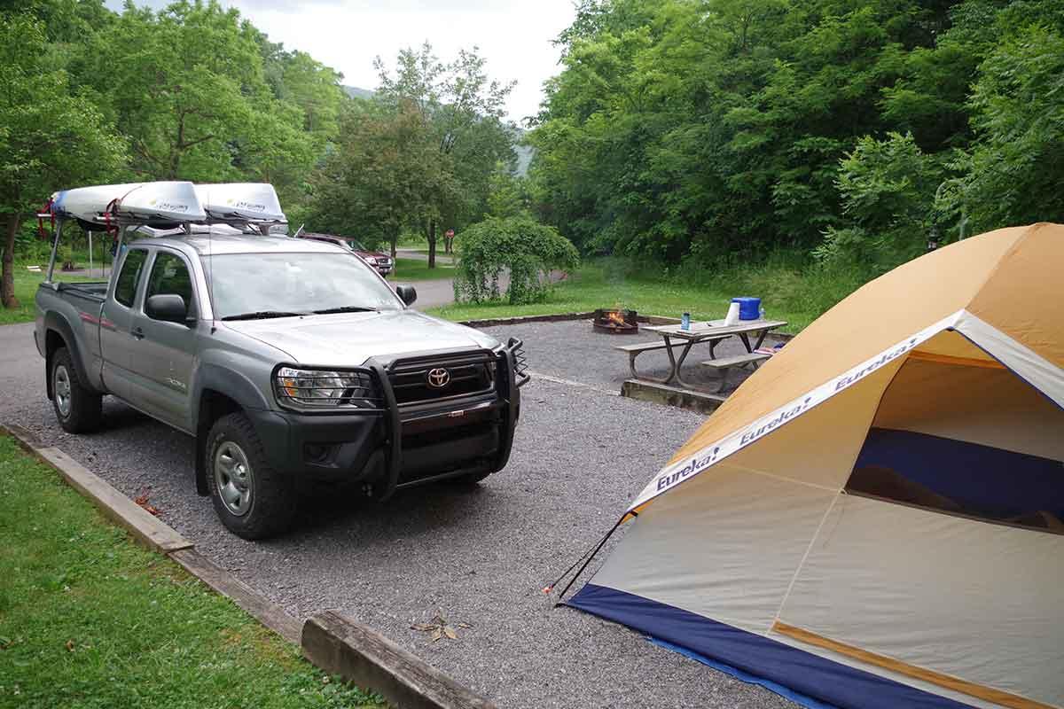 Camping is fun.
