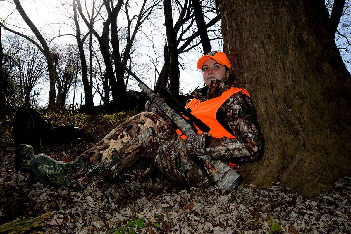 Fluorescent orange is meant to improve safety in the hunting woods.