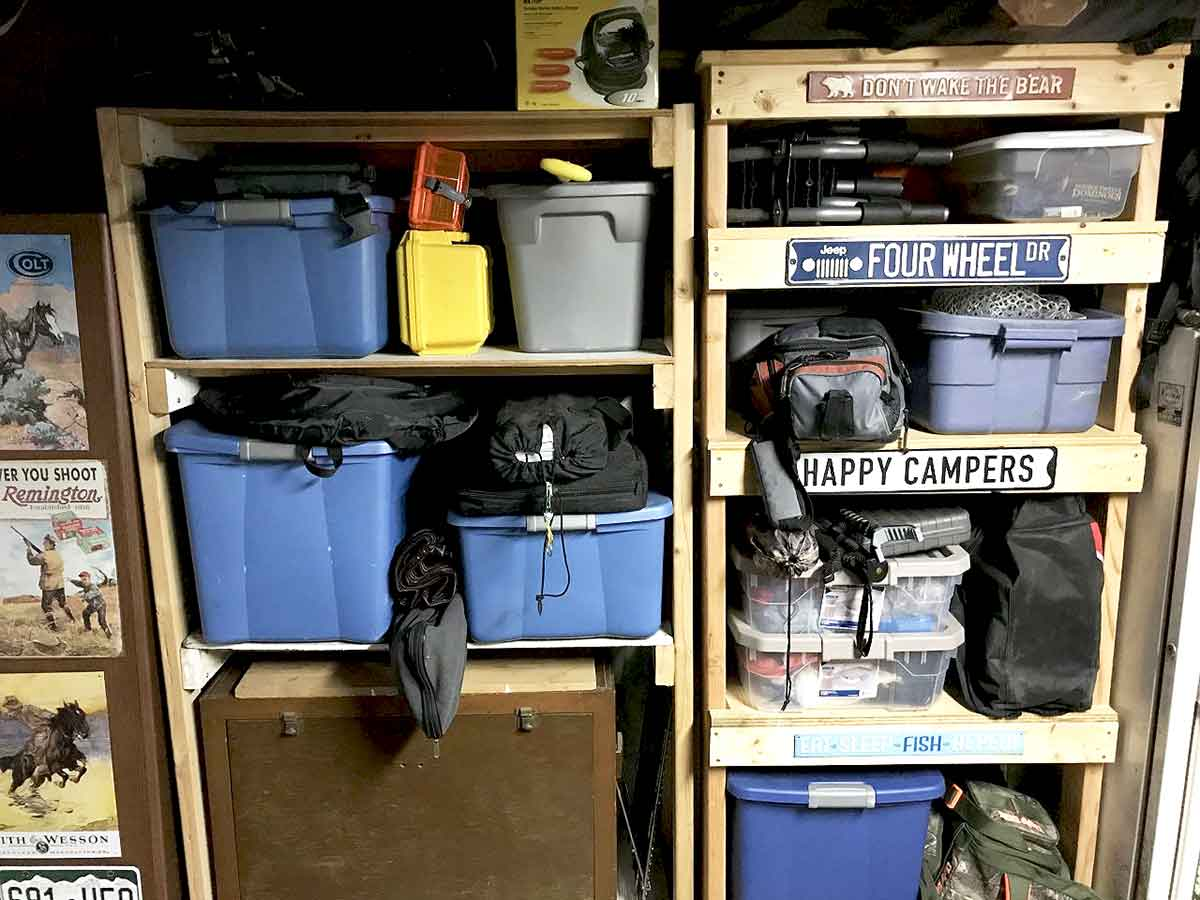 Gear storage can be simple.