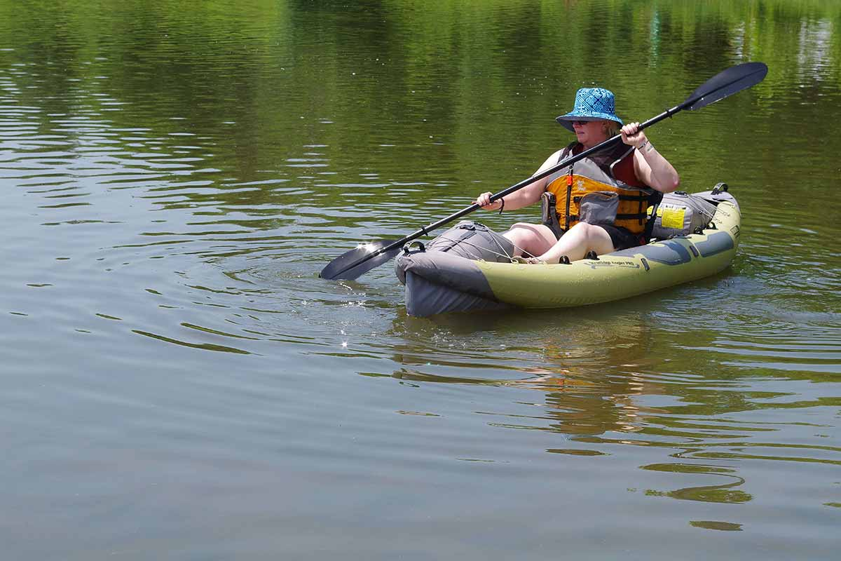 Inflatable kayaks can hold lots of weight.