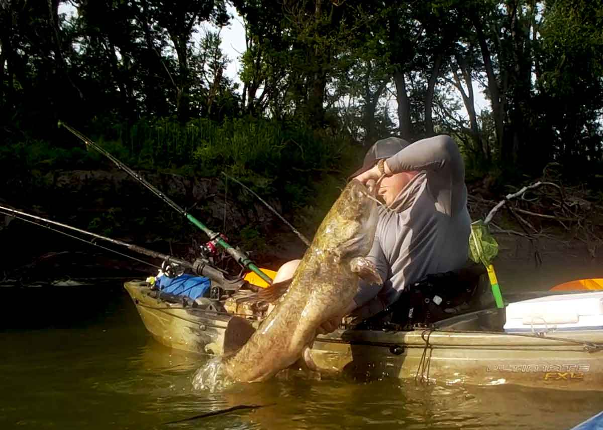 Kayak catfishing is unique.