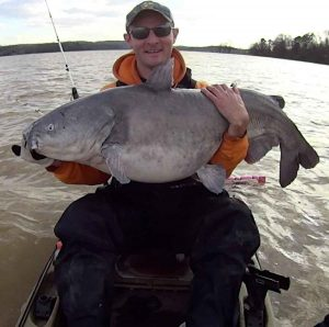 Kayak catfishing is interesting.