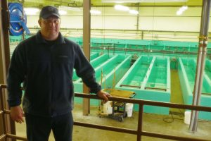 Linesville fish hatchery manager Jared Sayers.