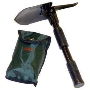 Fishing and camping for northern pike is easy with a folding shovel.