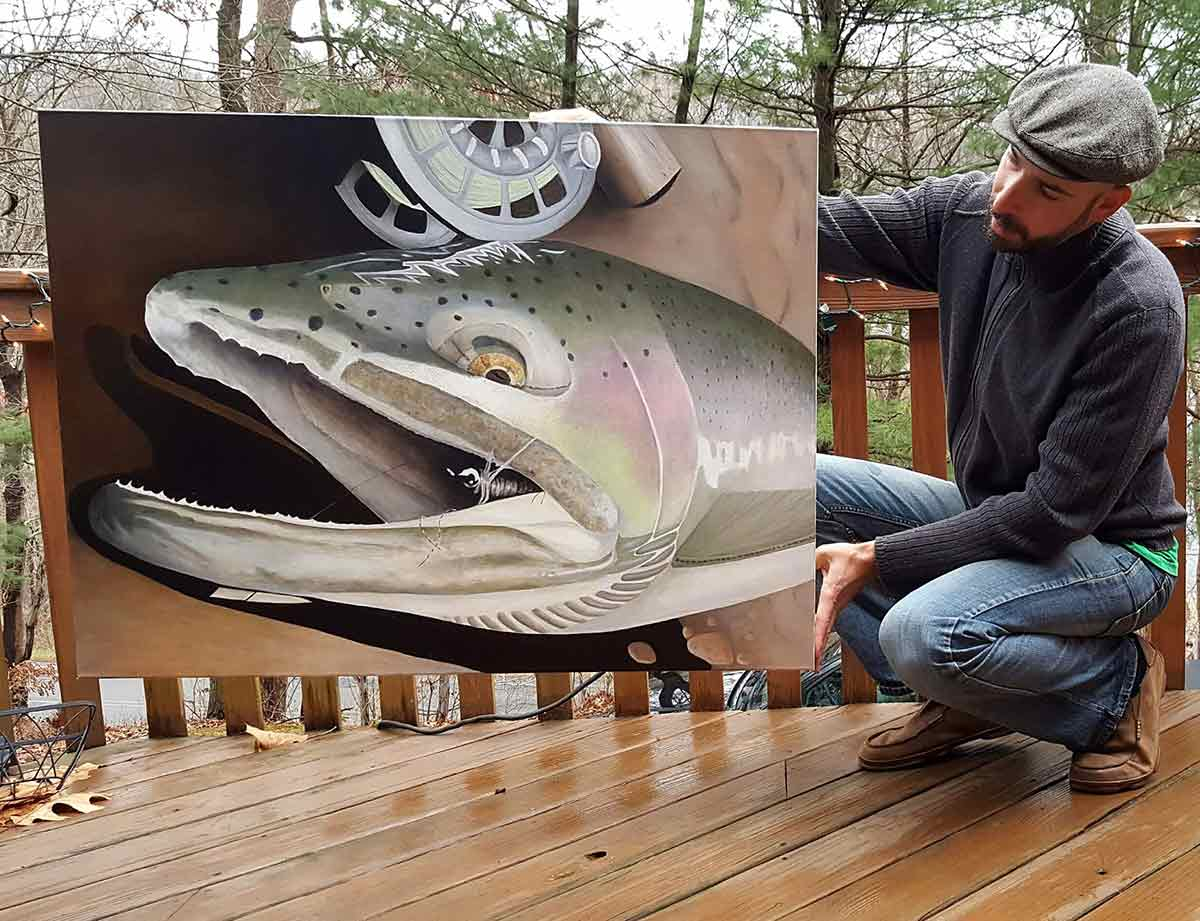 Fly fishing meets art with this Pittsburgh river angler.